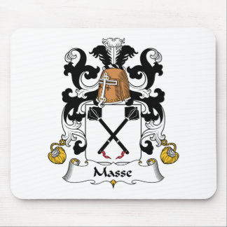 Escudo de la familia de Masse Alfombrillas De Ratones