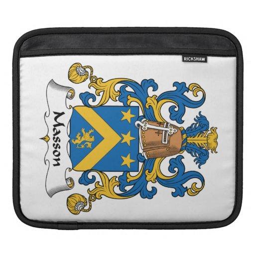 Escudo de la familia de Masson Fundas Para iPads