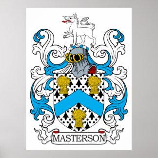 Escudo de la familia de Masterson Póster
