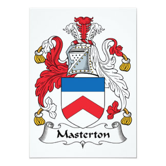 Escudo de la familia de Masterton Invitación 12,7 X 17,8 Cm