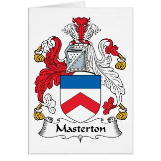 Escudo de la familia de Masterton Tarjetón
