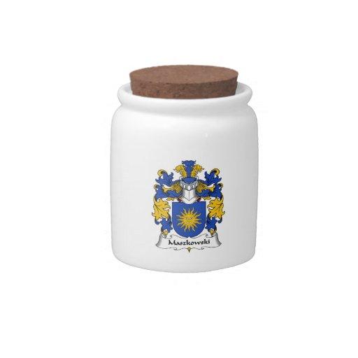 Escudo de la familia de Maszkowski Jarra Para Caramelo