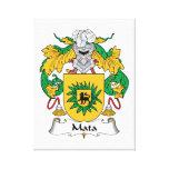 Escudo de la familia de Mata Lienzo Envuelto Para Galerias