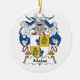 Escudo de la familia de Matas Ornamentos De Navidad