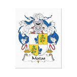 Escudo de la familia de Matas Lienzo Envuelto Para Galerias
