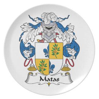 Escudo de la familia de Matas Platos