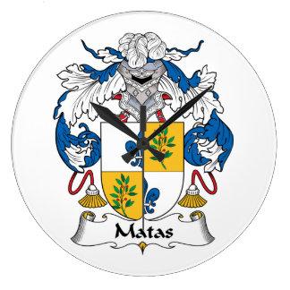 Escudo de la familia de Matas Reloj De Pared