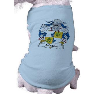 Escudo de la familia de Matas Camisa De Mascota