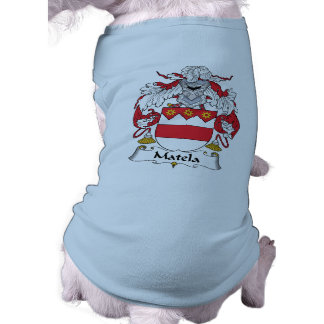 Escudo de la familia de Matela Playera Sin Mangas Para Perro