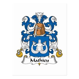 Escudo de la familia de Mateo Tarjeta Postal