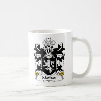 Escudo de la familia de Mathau Taza Básica Blanca