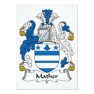"""Escudo de la familia de Mather Invitación 5"""" X 7"""""""