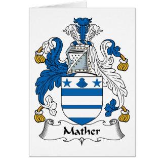 Escudo de la familia de Mather Tarjeta De Felicitación