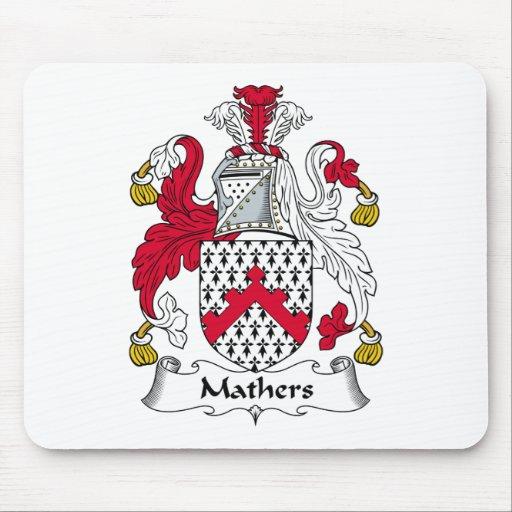 Escudo de la familia de Mathers Alfombrillas De Ratón