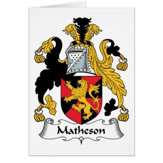 Escudo de la familia de Matheson Tarjeta De Felicitación
