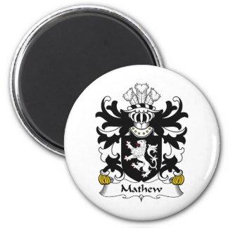 Escudo de la familia de Mathew Imán Redondo 5 Cm