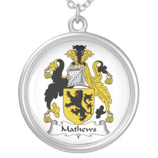 Escudo de la familia de Mathews Colgante Redondo