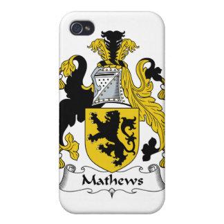 Escudo de la familia de Mathews iPhone 4 Fundas