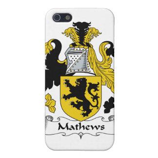 Escudo de la familia de Mathews iPhone 5 Funda