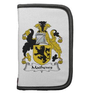 Escudo de la familia de Mathews Organizador