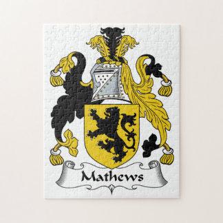Escudo de la familia de Mathews Rompecabeza