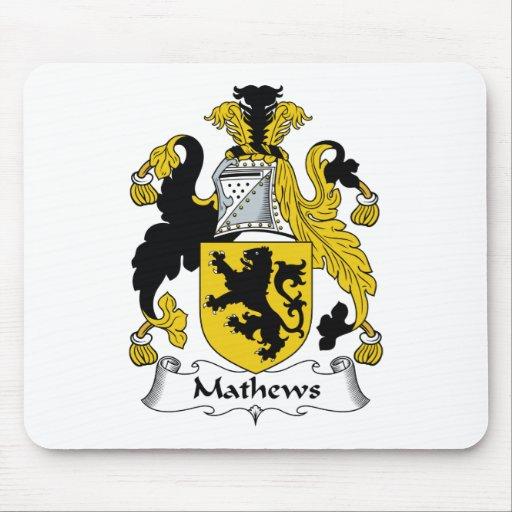 Escudo de la familia de Mathews Tapetes De Raton