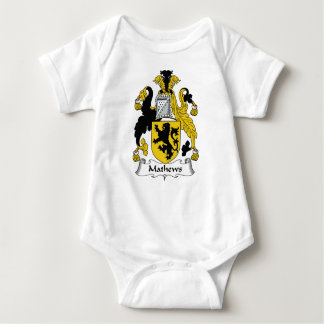 Escudo de la familia de Mathews Tee Shirts