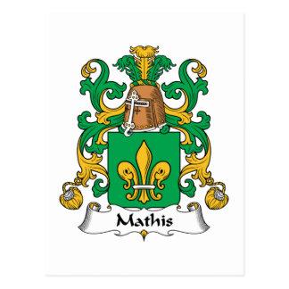 Escudo de la familia de Mathis Postales