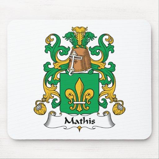 Escudo de la familia de Mathis Tapetes De Ratones