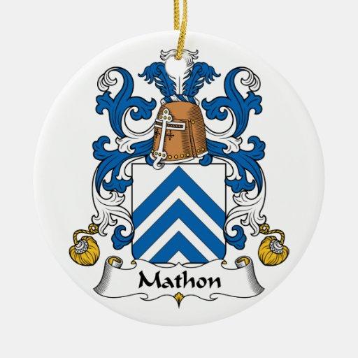 Escudo de la familia de Mathon Ornamento De Reyes Magos