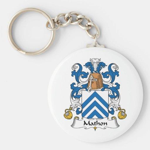 Escudo de la familia de Mathon Llavero Redondo Tipo Pin