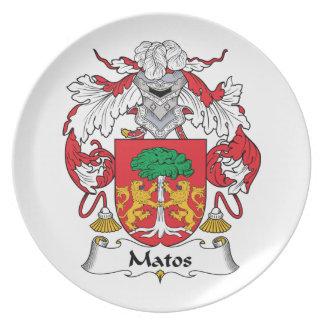 Escudo de la familia de Matos Platos De Comidas