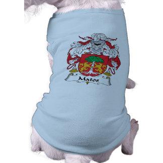 Escudo de la familia de Matos Playera Sin Mangas Para Perro