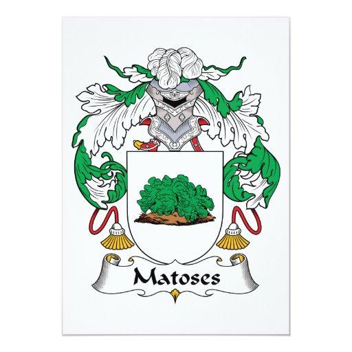 Escudo de la familia de Matoses Invitacion Personal