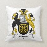 Escudo de la familia de Matson Cojines
