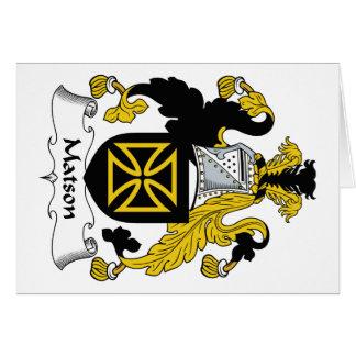 Escudo de la familia de Matson Felicitacion