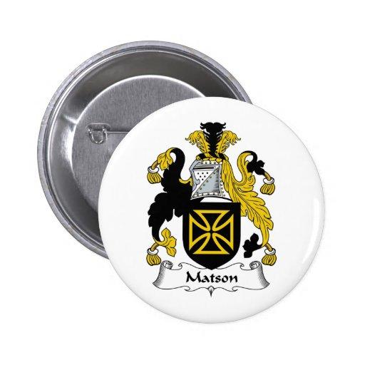 Escudo de la familia de Matson Pin