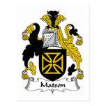 Escudo de la familia de Matson Postal