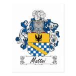 Escudo de la familia de Mattei Postal