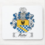 Escudo de la familia de Mattei Tapetes De Ratón