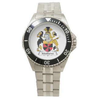 Escudo de la familia de Matthews Relojes De Mano