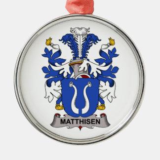 Escudo de la familia de Matthisen Adorno Redondo Plateado