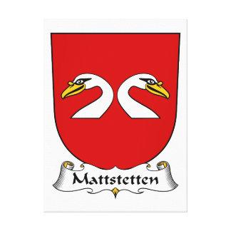 Escudo de la familia de Mattstetten Impresiones En Lona Estiradas