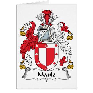 Escudo de la familia de Maule Tarjeta De Felicitación