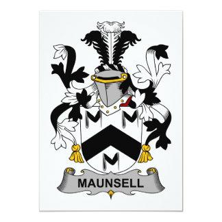 Escudo de la familia de Maunsell Invitación 12,7 X 17,8 Cm