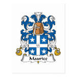 Escudo de la familia de Mauricio Tarjeta Postal