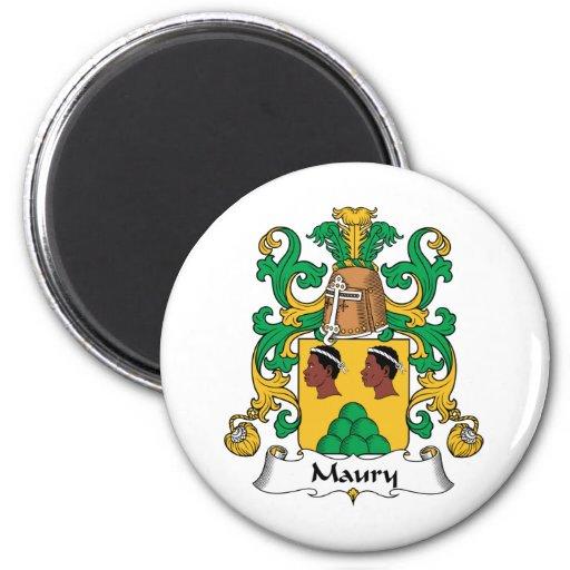 Escudo de la familia de Maury Imán Redondo 5 Cm