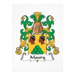 Escudo de la familia de Maury Invitacion Personalizada