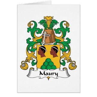 Escudo de la familia de Maury Tarjeta De Felicitación