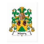 Escudo de la familia de Maury Tarjetas Postales